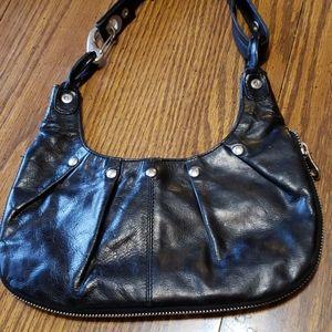 Authentic Armani Exchange Black Leather Bag